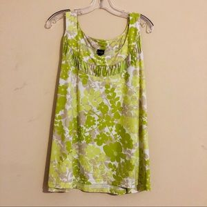 Rafaella tank tip shell floral 3x new without tag